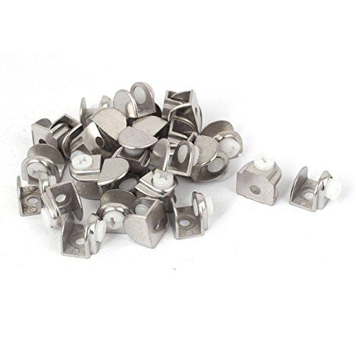 Sourcingmap® 30pcs semi-circolare in metallo ripiano in vetro staffa serraggio supporto per 3-8mm spessore