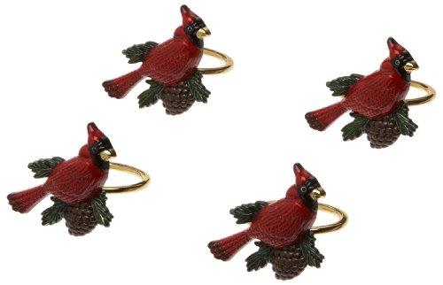 Lenox Cardinal Napkin Rings, Set of 4, Gold Lenox Set Ring