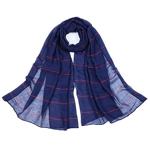 Kentop Donna Riga Sciarpa di TR Cotone Feinile di Scialle Elegante Scialle