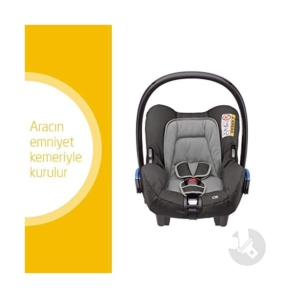 Maxi-Cosi Kinderautositz Citi Concrete Grey Maxi-Cosi Side protection system, guarantees optimal protection in the event of a side impact Lightweight, light weight and ergonomically shaped safety bar for use as carrying handle Practical travel system 2