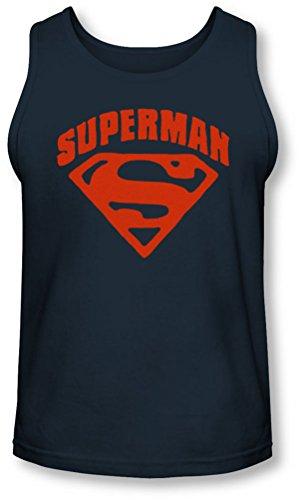 Superman - - Herren Super-Schild Tank-Top Navy