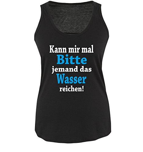 Funshirts-Company - T-shirt - Donna Schwarz / Weiss / Blau