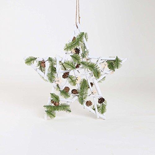 Weihnachtsdeko, Advent, Stern aus Holzästen, weiß ca. 30 cm | knuellermarkt.de | Weihnachten, Adventszeit, Weihnachtsschmuck, Fensterdeko, Dekoration, Deko, Hänger, Tischdeko