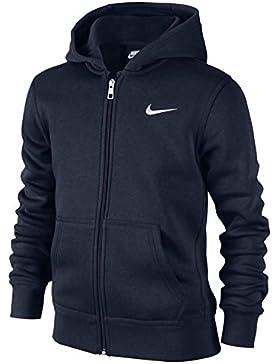 Nike 619069-010 - Sudadera con capucha para niños, color Azul (Obsidian/White), talla M (talla del fabricante:...