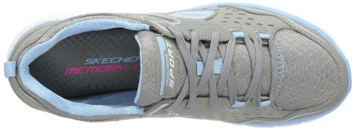 Skechers Synergy A Lister, Multisports outdoor Femme Gris (GYLB)