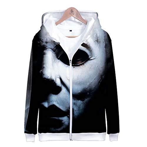 qingning Horro Film Halloween Michael Myers Pullover Cosplay Mantel Sweatshirt Tops Killer Mantel Bekleidung Weihnachten Geschenk (Halloween-film Top 10)