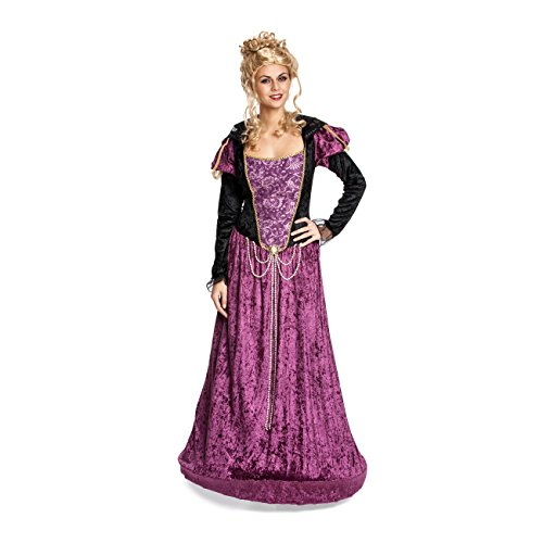 Kostümplanet® Edeldamen-Kostüm Deluxe Mittelalter-Kostüm Edeldame Burgfrau Königin Größe (Edle Der Für Ritter Erwachsene Kostüme)