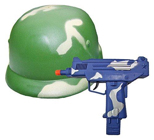 et - Military Helm und Uzi zum Armee Kostüm ()