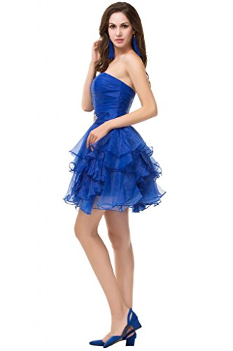 Sunvary staccabile con pieghe in Organza e corsetto da Cocktail, motivo: abiti da sera Blu