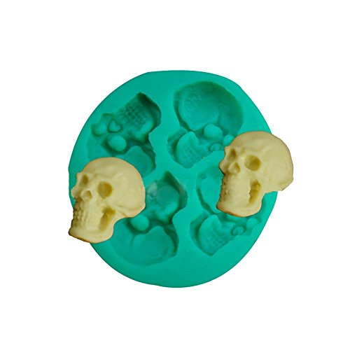 gloednapple 3D DIY Silikon Halloween Skull Head Schokolade/Fondant/Candy Form Form Decorator Backen Werkzeuge