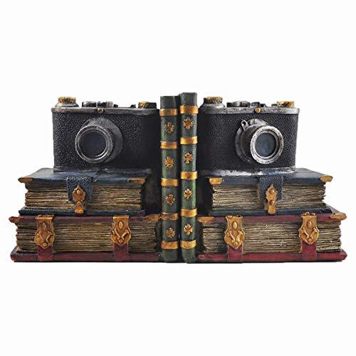 Dongart Kamera Vintage Buchstützen Europäischen Bücherregal Decor Dekoration Buchstützen Für Home Office Llibrary Schule (30 * 10 * 15 cm) - Buchstützen Home Decor