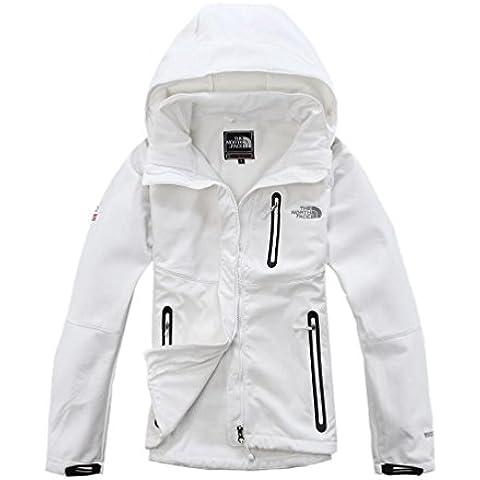 YYH Nuevo shell suave abrigos vestir de las señoras moda Andes caliente coger la sudadera blanca , s