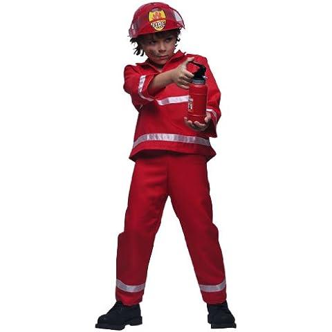 Cesar C020-004 - Disfraz de bombero para niños (talla 140, 10 - 12 años, T4, 144 cm), color rojo