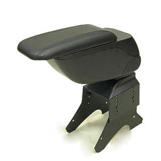 Boloromo 48014 Mittelarmlehne Armlehne mit Schiebeplatte Universal Konsole Mittelkonsole Schwarz