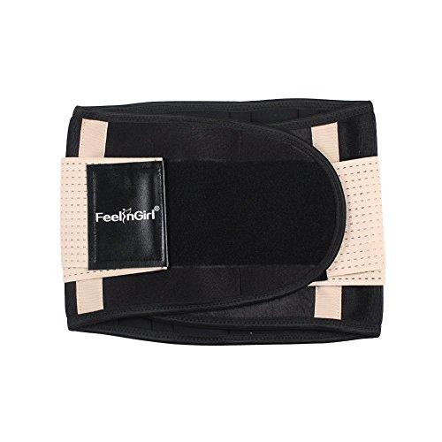 FeelinGirl Fitnessgürtel Sport Rückenbandage Rückenstütze - Hochwertig Atmungsaktiv mit Doppelzug zur elastischen Kompressio