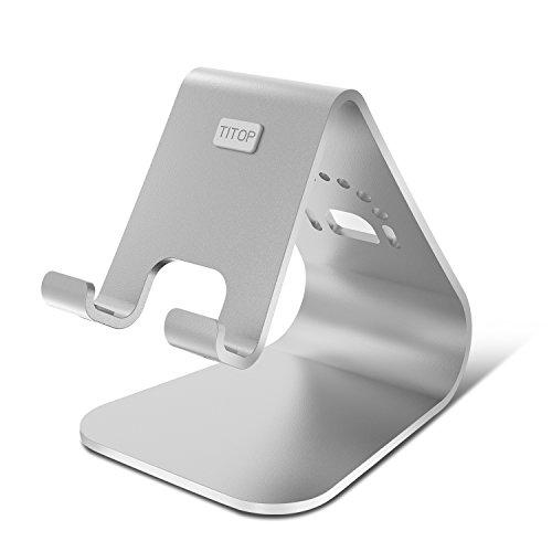 Dock per iPhone, Spinido® Titop e alluminio supporto per scrivania compatibile con tutti gli iPhone (iPhone 5s/SE/6s/6 Plus) e Samsung S6/ S6 Edge/Note 4(argento)