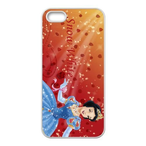 iphone5 5s White phone case Disney Cartoon Comic Series Snow White and the Seven Dwarfs QBC3077747