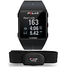 Polar V800 Black HR - Reloj deportivo GPS con sensor de frecuencia cardíaca H10, color negro