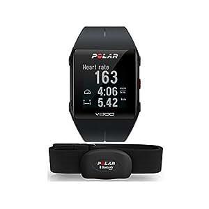 Polar Orologio GPS Multisport per Monitoraggio attività Fisica Unisex Adulti, V800 HR Nero, M