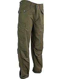 Highlander résistant Rip-Stop M65 Style militaire Noir-Pantalon-Homme-Kaki/Olive