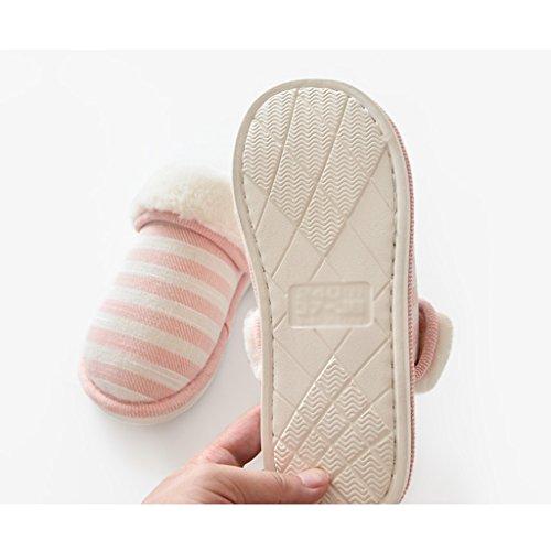 Chaussons DWW Hiver Pantoufles de Coton Maison Intérieure Antidérapante Épaissie Hommes Chaussures Pattern 1