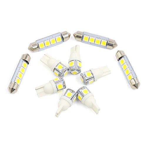 sourcingmap-10x-fr-gmc-sierra-acadia-07-11-wei-karte-dome-led-innenbeleuchtung-kit