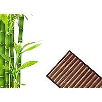 EGLEMTEK Top Shop Brown in bamboo degradè with Non-Slip Back Rug 50x 140cm