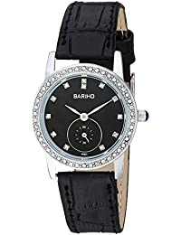 Naivo Women's Quartz Stainless Steel and Leather Casual Color:Black (Model: WATCH-1086)