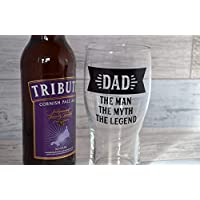 Pint Glass, Dad Gift, Best Dad, Beer Glass, Beer Lover, Beer Gift, The Myth The Man The Legend