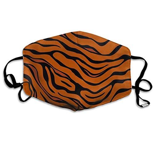 Fashion Earloop Face Mask, Tiger Stripe Animal, Dental Surgical Flu Mask Germ Dust Protection Filter Face Masks for Men Women