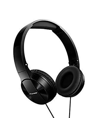 Pioneer SE-MJ503T-K Fully Enclosed Foldable Headphones with Padded Headband and In-Line Microphone
