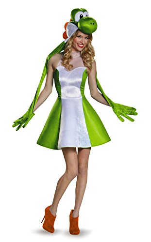 Bowser Kostüm Damen - Women's Yoshi Skirt Fancy Dress Costume