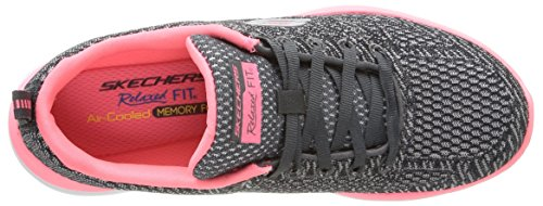 Skechers Valeris, Baskets Basses Femme Gris (Gris/Rose)