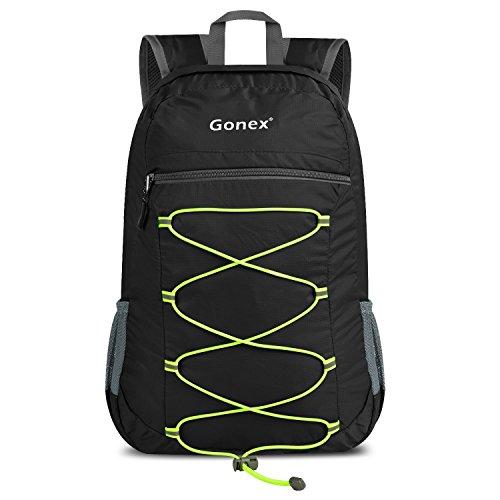 Gonex 25L Faltbarer Rucksack für Mehr Stauraum - Leichter, als Outdoor Reiserucksack, Tagesrucksack, Handgepäck