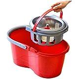BEITE- Nettoyage de la pression à la main Dry Double Drive Rotator Mop Détachable Mop Bucket Large Capacity Mop Bucket With 4 Microfiber Mop Heads