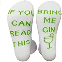 Boheng Fruit Green SI Puedes Leer Este Casual Carta en inglés Calcetines Calcetines de algodón 1 par