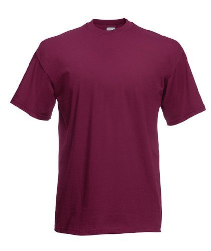 Fruit of the Loom - Classic T-Shirt \'Value Weight\' XXL,Burgundy