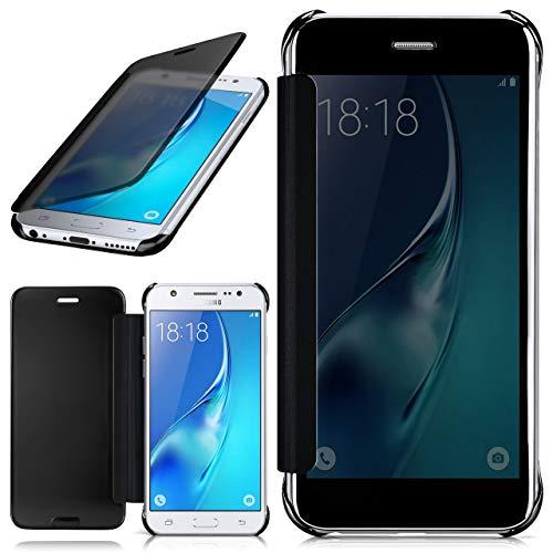 moex Samsung Galaxy J5 (2016)   Hülle Transparent TPU Void Cover Dünne Schutzhülle Anthrazit Handyhülle für Samsung Galaxy J5 2016 Case Ultra-Slim Handy-Tasche mit Sicht-Fenster
