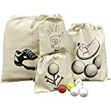 Arka Home Products Off-White Golf Accessories Organizer -Set of 4 Bags