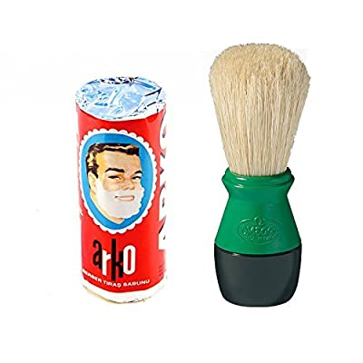 Arko Shaving Soap Stick & Boar Bristle Shaving Brush from Arko