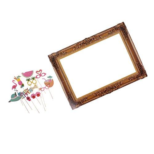 Sharplace Tropische Fotorequisiten Set, (photo booth props, Fotorahmen) (Hawaii-foto-rahmen)