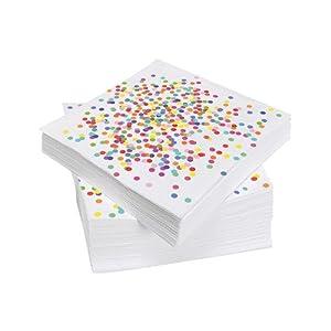 speel Goed 437160-Confetti Servilletas, 33x 33cm, 20Unidades