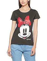 Disney Mickey Mouse Minnie Beaten Face, T-Shirt Femme