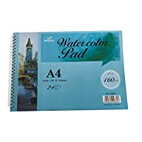 Prettop Watercolour Paper Thick Hard Cover A4 Watercolour pad, 24 Pages, 297x210mm