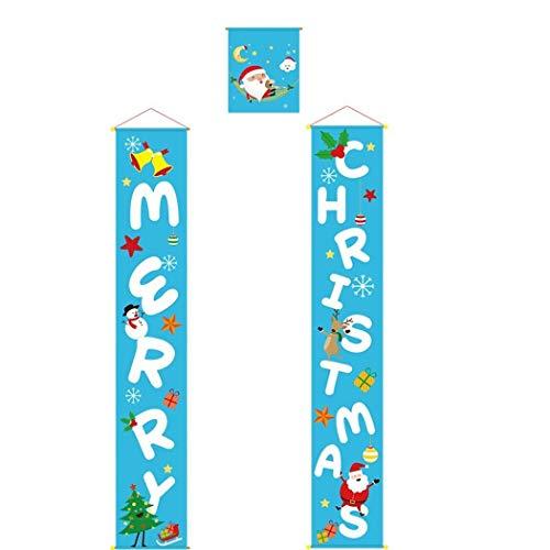 queges Weihnachtsfahne Front Door Welcome Hanging Sign Festival-Partei-Dekor Textilbanner