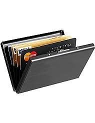 RFID titulaire de la carte de crédit, le cas de la carte UWILD ® Deluxe en acier inoxydable, IRF Carte de crédit Wallet Purse Holder pour hommes et femmes