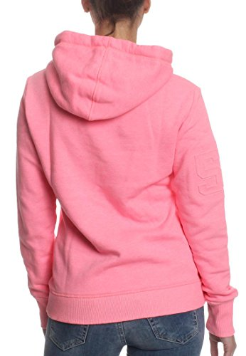 Superdry Sweater Women VINTAGE LOGO EMBOSSED Tropical Teal Grit Pink