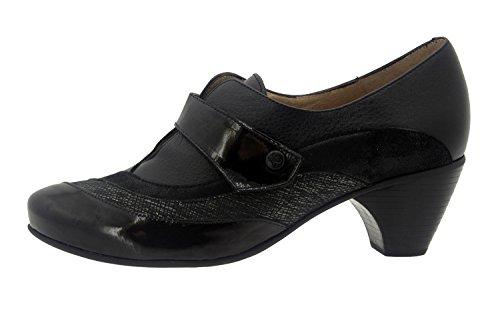 Scarpe donna comfort pelle Piesanto 7406 casual comfort larghezza speciale Carbón