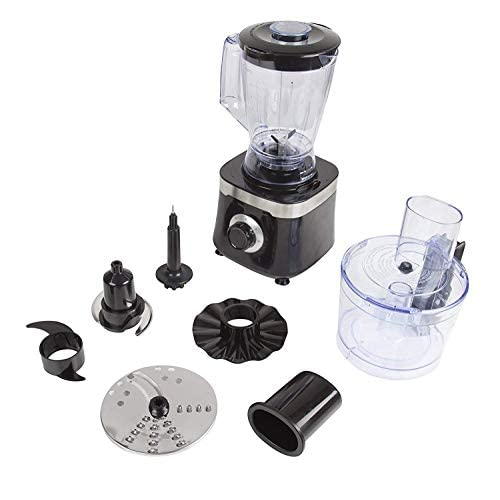 41CTaXIRJqL. SS500  - Tower T18004 Food Processor with 1.4 Litre Blending Jug and 1.5 Litre Food Processor Bowl, 600 W, Black