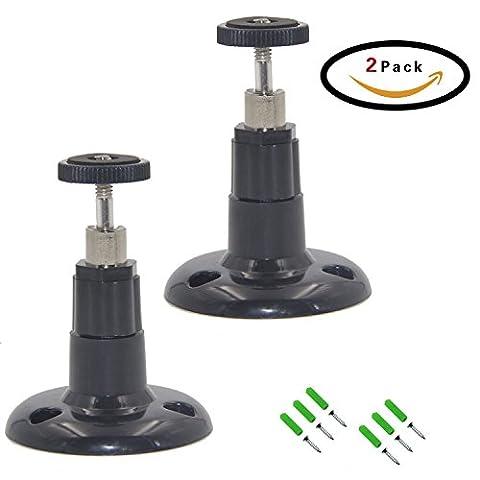 DTRIGIGO Drinnen und Draußen Sicherheit Wandhalterung Verstellbar Kamerahalter für Arlo, Arlo Pro, Arlo Cam,CCTV,DVR und Andere Modelle,2x Pack (Schwarze)